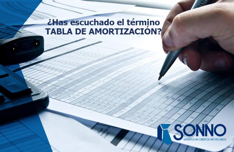 ¿Has escuchado el término TABLA DE AMORTIZACIÓN?
